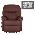 more details on Lars Riser Recliner Chair Single Motor - Burgundy Leather.