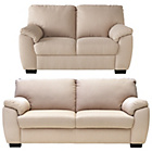 more details on Milano Fabric Large and Regular Sofa - Mink.