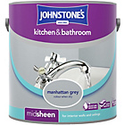more details on Johnstone's Kitchen & Bathroom Emulsion 2.5L- Manhattan Grey