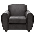 more details on Magnus Leather Effect Chair - Black.