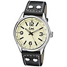 more details on Limit Men's Pilot Style Cream Dial Black Strap Watch.