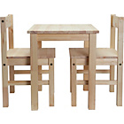 more details on Kids Scandinavia Table and 2 Chairs - Pine.