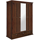 more details on HOME Canterbury 3 Dr 3 Drw Mirrored Wardrobe -Walnut effect.