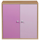 more details on Phoenix 2 Door Storage Unit - Pink on Beech.