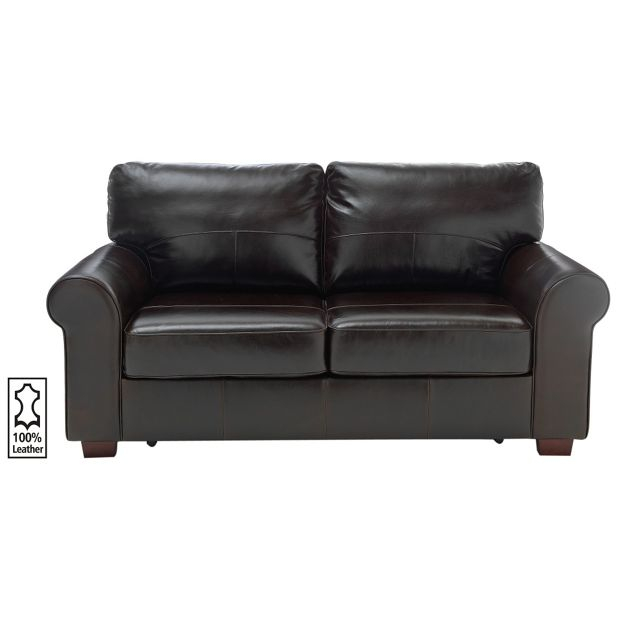 Buy heart of house salisbury 2 seater leather sofa bed for Sofa bed argos