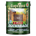 more details on Cuprinol Ducksback 5 Year Waterproof 5L - Harvest Brown.