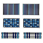 more details on Blue Enamel Cufflink Set - 3 Pairs.