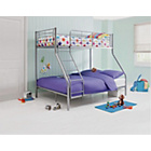 more details on Metal Triple Silver Bunk Bed with Elliott Mattress.