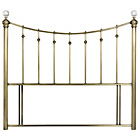 more details on Schreiber Oborne Metal Double Headboard - Brass/Crystal.