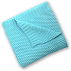 more details on East Coast Nursery Silver Cloud Cotton Blanket - Turquoise.