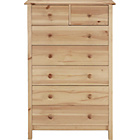 more details on New Scandinavia 5+2 Drawer Chest - Pine.