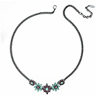 more details on Fiorelli Crystal Pink and Mint Flower Necklace.
