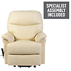 more details on Lars Leather Power Riser Recliner - Cream.