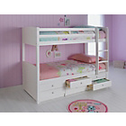 more details on Leigh White Detachable Bunk Bed with Elliott Mattress.