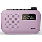 more details on Alba Mono DAB Radio - Pink.
