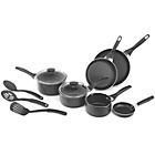 more details on Prestige Non-Stick Aluminium 9 Piece Pan Set - Black.