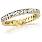 more details on 9ct Gold Cubic Zirconia Eternity Ring - O.