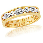 more details on 9ct Gold Plated Sterling Silver Ladies' Commitment Ring - L.
