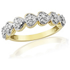 more details on 9ct Gold Cubic Zirconia Half Eternity Ring - M.
