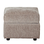 more details on HOME Tessa Fabric Footstool - Mink.