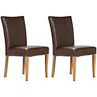 more details on Schreiber Pair of Upholstered Oak Dining Chairs -Leather.