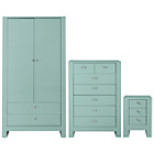 more details on Vienna 3 Piece 2 Door Wardrobe Package - Duck Egg.