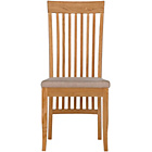 more details on Schreiber Pair of Slatted Dining Chairs - Oak