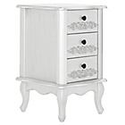 more details on Sophia 3 Drawer Bedside Cabinet - White