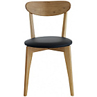 more details on Habitat Sophie Oak Dining Chair with Black Seat Pad