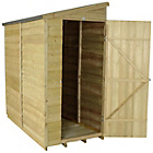more details on Forest Overlap 6 x 3ft Pent Wall Shed.