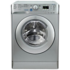 more details on Indesit XWA81482S 8KG 1400 Spin Washing Machine - Silver.