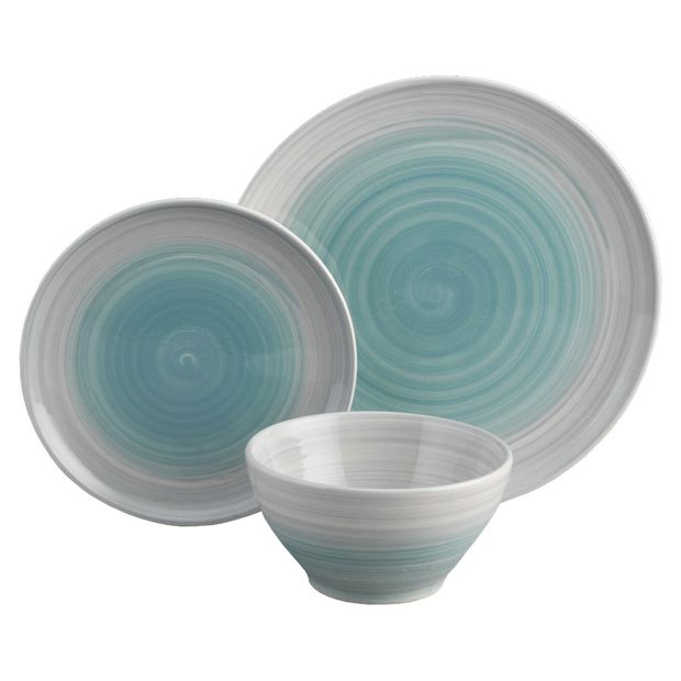 atkinson blue set of 12 dinnerware at your online