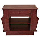 more details on End Table with Magazine Rack and Storage - Mahogany Effect.