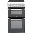 more details on Indesit IT50CS Twin Cavity Electric Cooker - Silver.