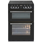 more details on Belling Classic 60E Double Electric Cooker - Black.