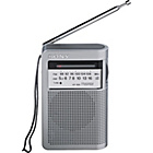 more details on Sony ICFS22 2 Band Radio - Silver.