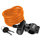 more details on Ventura Spiral Cable Lock with Bracket - Orange.