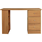 more details on New Malibu 3 Drawer Dressing Table - Pine Effect.