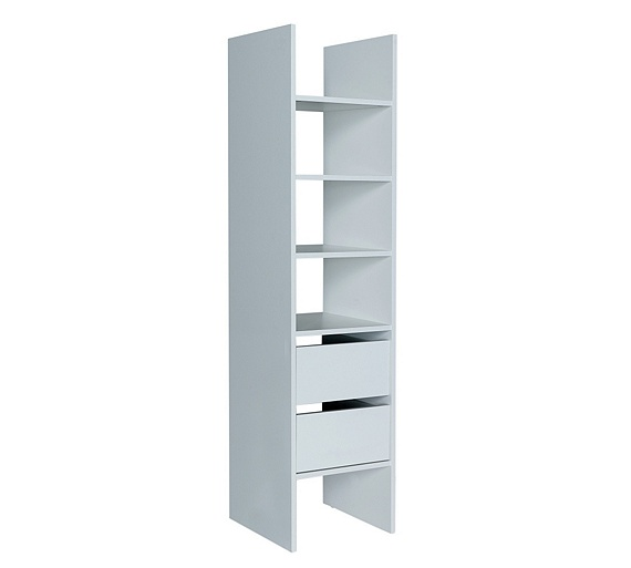 Buy home internal tall 2 drawer narrow unit at for Bedroom units argos
