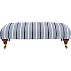 more details on Heart of House Sherbourne Large Fabric Footstool Grey Stripe
