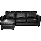 more details on HOME New Siena Fabric Corner Sofa Bed with Storage - Black.