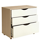 more details on Hygena Berkeley 3 Drawer Chest - White and Oak.