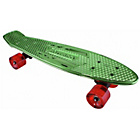 more details on Karnage Retro Skateboard - Chrome and Green.