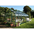 more details on Halls Supreme Toughened Glass 14 x 8ft Greenhouse with Base.