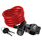 more details on Ventura Spiral Cable Lock with Bracket - Red.