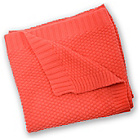 more details on East Coast Nursery Silver Cloud Cotton Blanket - Coral.