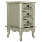 more details on Collection Sophia 3 Drawer Bedside Chest - Champagne.