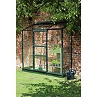 more details on Halls Wall Garden Lean-to Greenhouse with Base - Green.