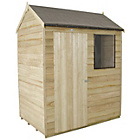 more details on Forest Overlap Reverse Apex 6 x 4ft Shed with Base.