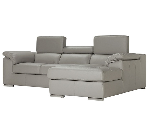 Buy hygena valencia leather right hand corner sofa grey for Outlet sofas valencia